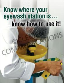 Eye Protection - Eyewash Station Posters
