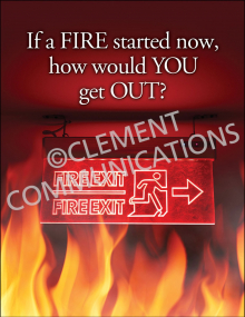 Fire Safety - Exit Sign Posters