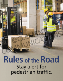 Forklift Safety - Pedestrians Posters