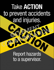 Hazard Identification - Caution – Posters