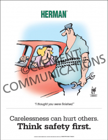 Safety Responsibility - Carelessness - Posters
