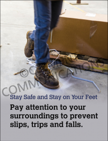 Slips, Trips, Falls – Stay On Your Feet - Poster