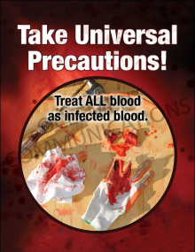 Bloodborne Pathogens – Bloody Tools – Poster