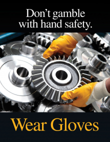 Hand Protection - Gears Posters