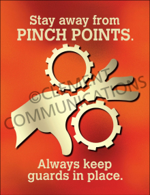 Machine Guards - Pinch Points - Poster