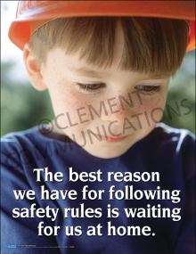 Safety Rules – Child Waiting at Home – Posters