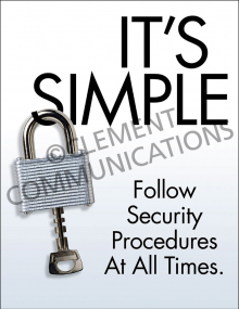 Security – It's Simple – Posters