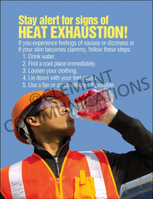 Heat Stress – Signs –  Posters