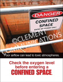Confined Spaces – Oxygen – Poster