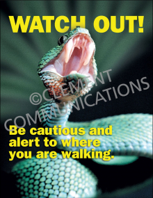 Outdoor Safety - Watch Out - Poster