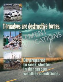 Tornado Safety - Destructive - Posters
