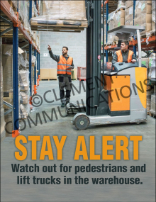 Warehouse Safety - Pedestrians - Posters