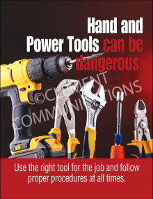Hand and Power Tools can be dangerous 17x22 poster