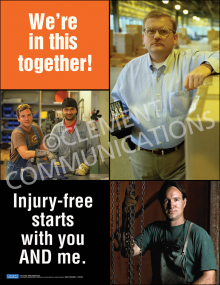 Injury Free Culture – We're In This Together Posters