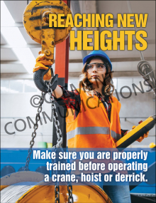 Cranes, Hoists and Derricks – Heights – Posters