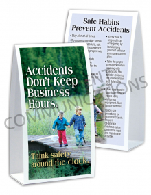 Accident Prevention - 24/7 - Table-top Tent Cards