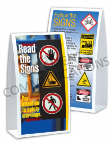 Accident Prevention - Signs - Table-top Tent Cards