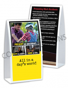 Accident Prevention - Trio - Table-top Tent Cards