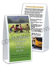 Accident Prevention - Wagon - Table-top Tent Cards