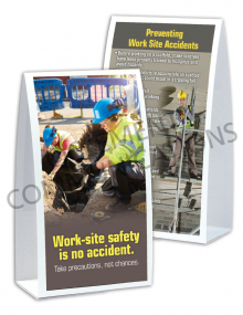 Accident Prevention - Work Site - Table-top Tent Cards