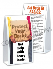 Back Safety – Heavy Box – Table-top Tent Cards