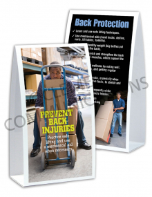 Back Safety – Worker – Table-top Tent Cards
