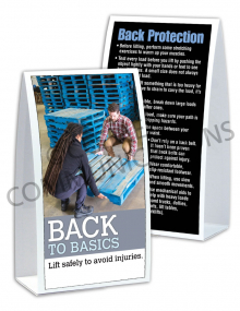 Back Safety – Basics – Table-top Tent Cards