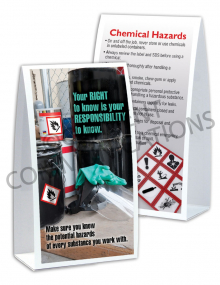 Chemical HazCom – Right To Know – Table-top Tent Cards