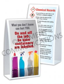 Chemical HazCom – Bottles – Table Top Tent Card