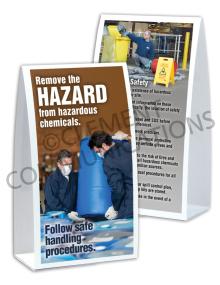 Chemical HazCom – Handling – Table Top Tent Card