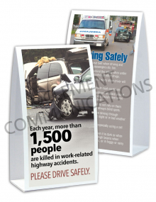 Driving Safely – Accident – Table-top Tent Cards