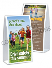 Driving Safely – School – Table-top Tent Cards