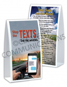 Driving Safely – Stop the Texts – Table-top Tent Cards
