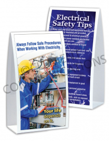 Electrical Safety – Your Life Depends on It – Table-top Tent Cards