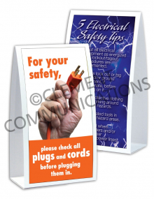 Electrical Safety – Plugs and Cords – Table-top Tent Cards