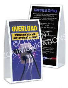 Electrical Safety – Overload – Table-top Tent Cards