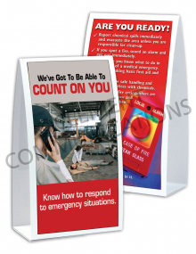 Emergency Preparedness – Count On You – Table-top Tent Cards