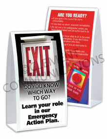 Emergency Preparedness – Learn Your Role – Table-top Tent Cards