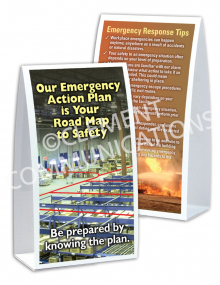 Emergency Preparedness – EAP – Table-top Tent Cards