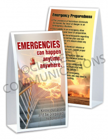Emergency Preparedness – Anytime – Table-top Tent Cards