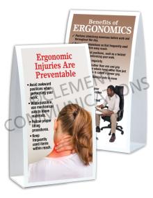 Ergonomics – Injuries – Table-top Tent Cards