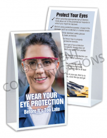 Eye Protection - Safety Goggles Table-top Tent Cards