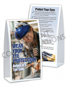 Eye Protection – Face Shield Table-top Tent Cards