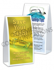 Eye Protection - Sight Table-top Tent Cards