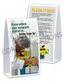 Eye Protection - Eyewash Station Table-top Tent Cards