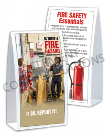 Fire Safety - Door Table-top Tent Cards