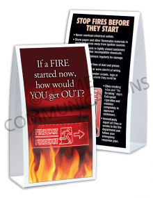 Fire Safety - Exit Sign Table-top Tent Cards