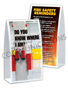 Fire Safety - Extinguisher Table-top Tent Cards