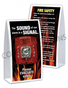 Fire Safety - Alarm Table-top Tent Cards