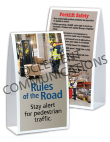 Forklift Safety – Pedestrians Table-Top Tent Cards